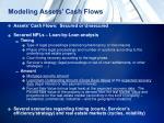 modeling assets cash flows