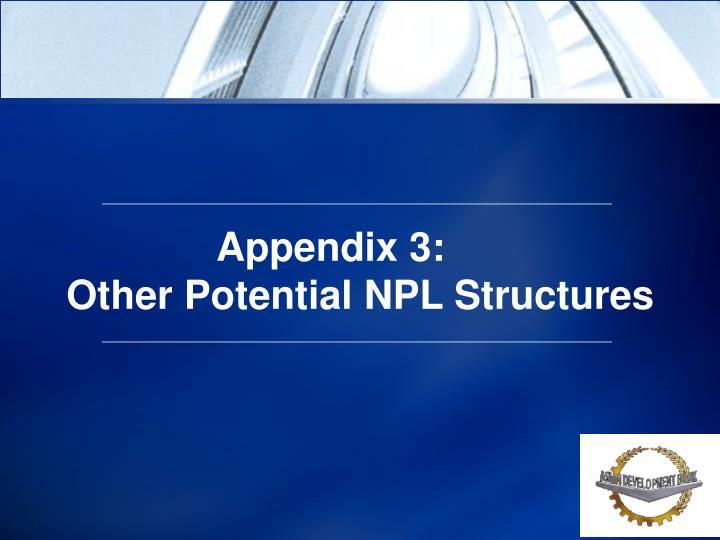 Appendix 3:
