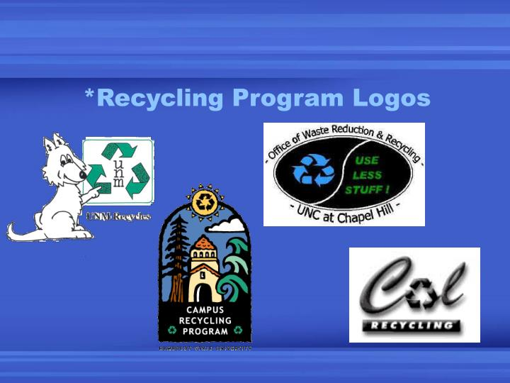 *Recycling Program Logos