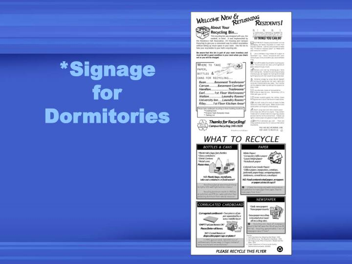 *Signage
