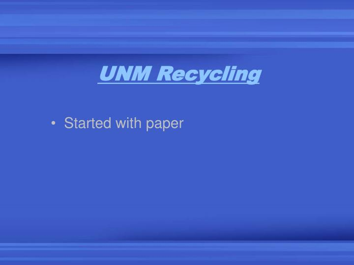 UNM Recycling