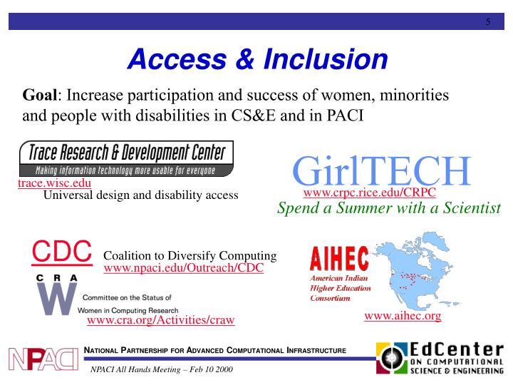 Access & Inclusion
