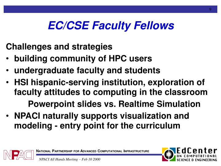 EC/CSE Faculty Fellows