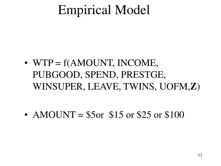 Empirical Model