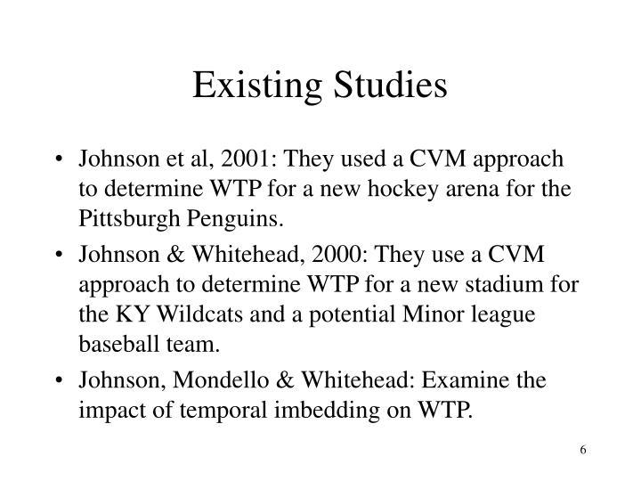 Existing Studies