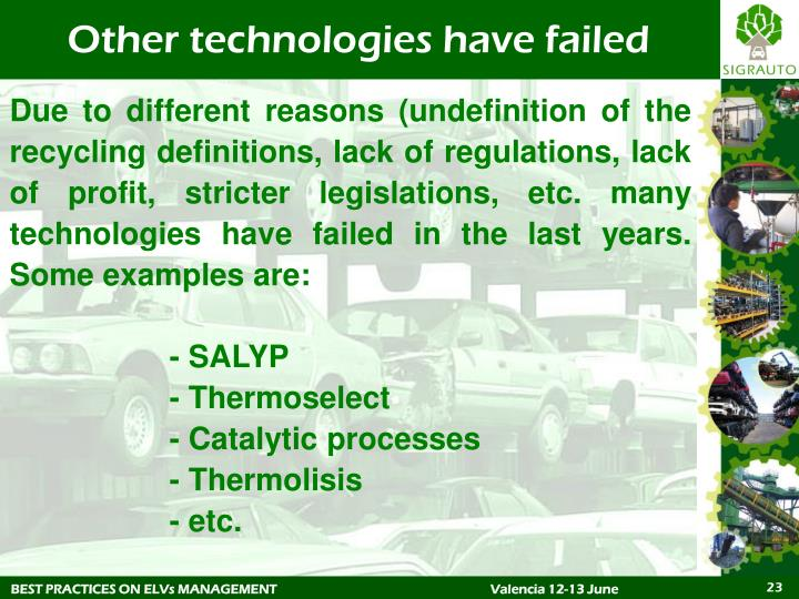 Other technologies have failed