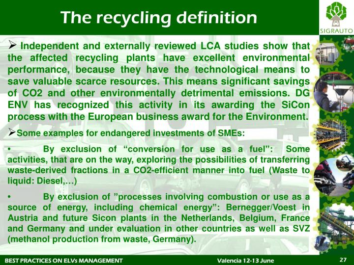 The recycling definition