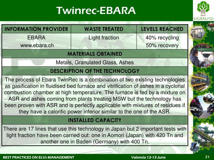Twinrec-EBARA