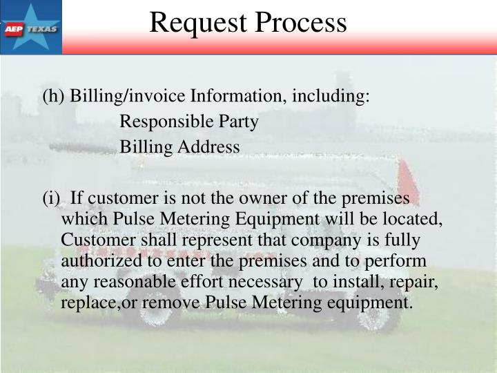 (h) Billing/invoice Information, including: