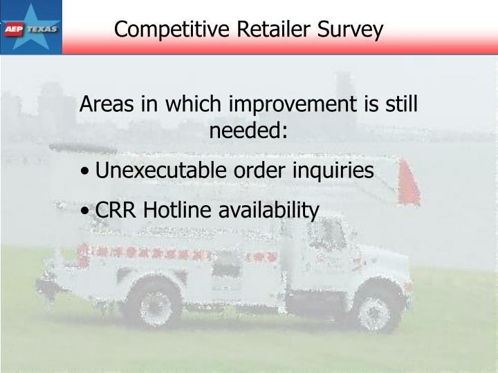 Competitive Retailer Survey