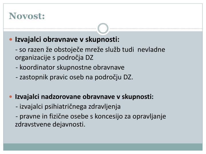 Novost: