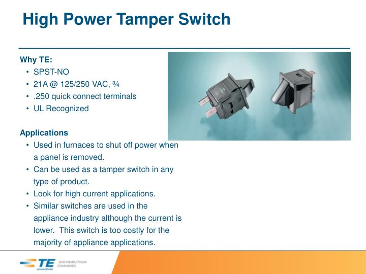 High Power Tamper Switch