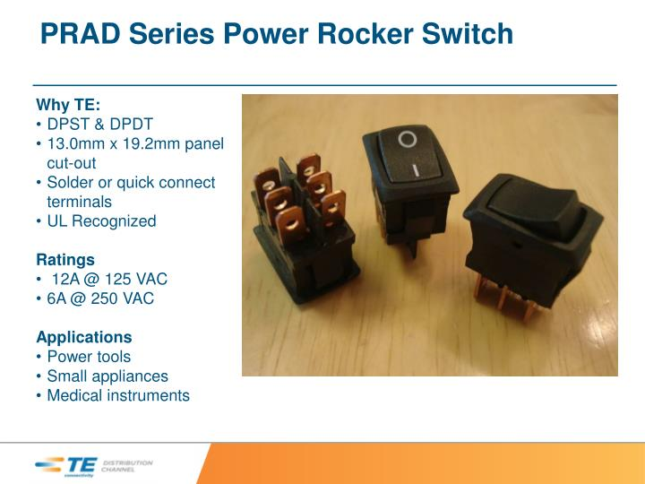 PRAD Series Power Rocker Switch