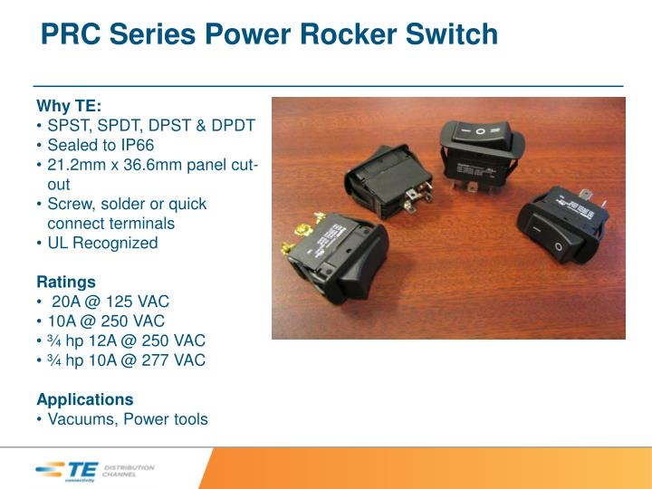 PRC Series Power Rocker Switch