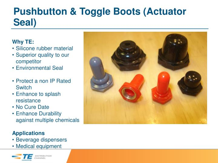 Pushbutton & Toggle Boots (Actuator Seal)