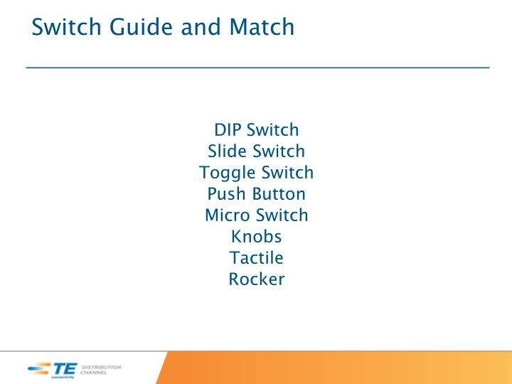Switch Guide and Match