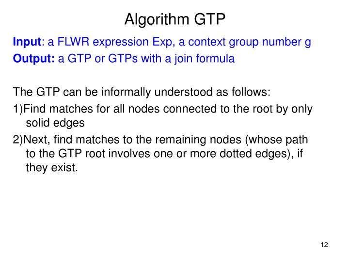 Algorithm GTP