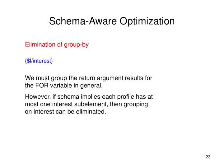 Schema-Aware Optimization