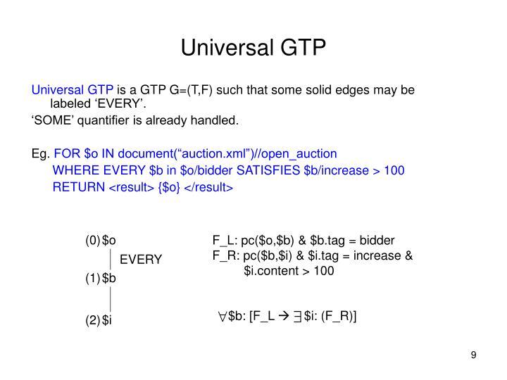 Universal GTP