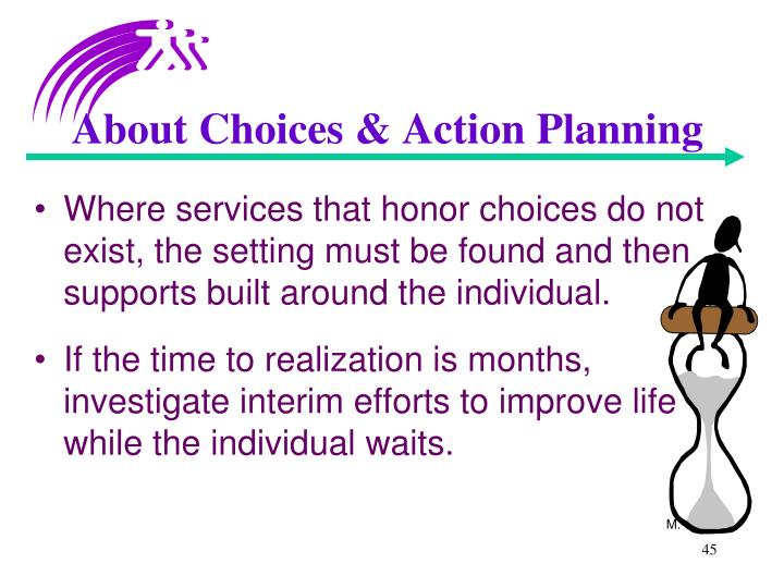 About Choices & Action Planning