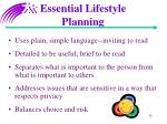 essential lifestyle planning