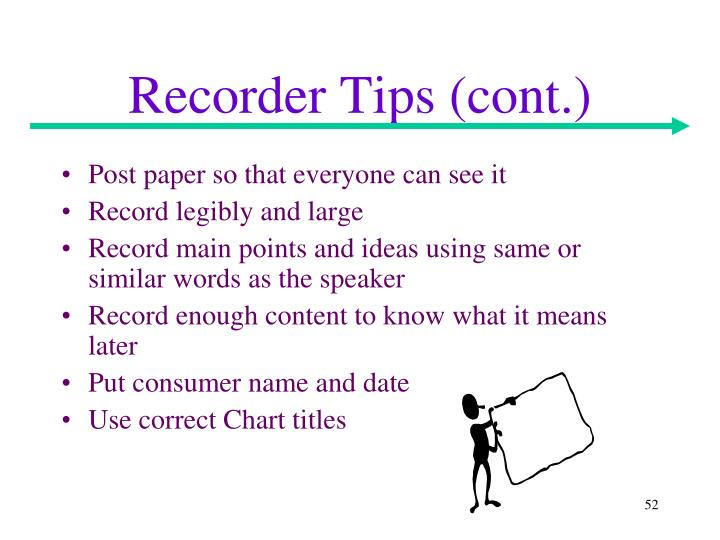 Recorder Tips (cont.)