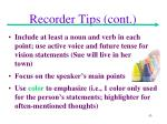 recorder tips cont1