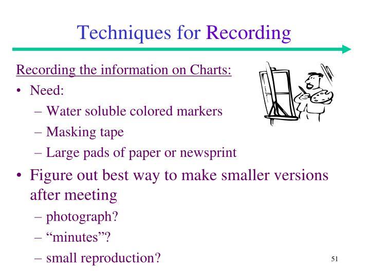 Techniques for