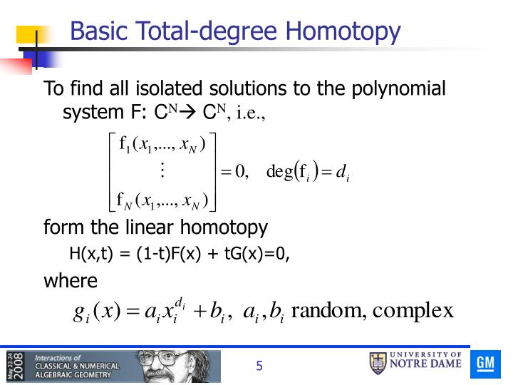 Basic Total-degree Homotopy