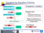 equation by equation solving