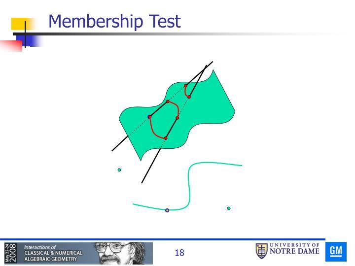 Membership Test