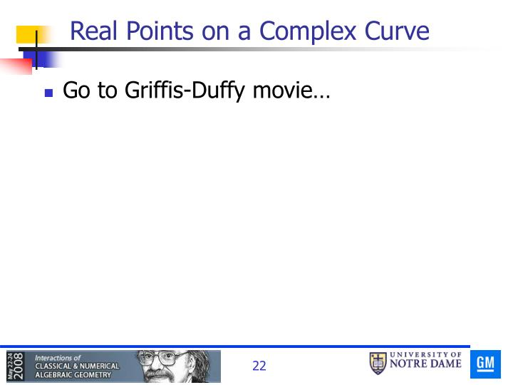 Real Points on a Complex Curve