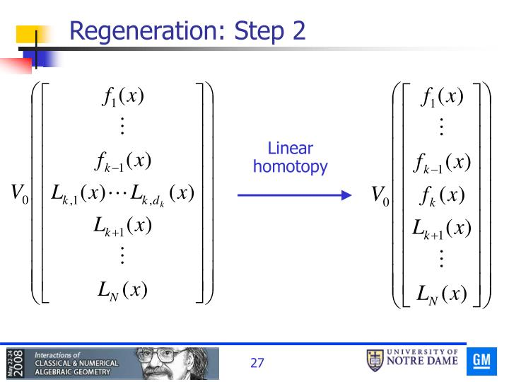 Regeneration: Step 2