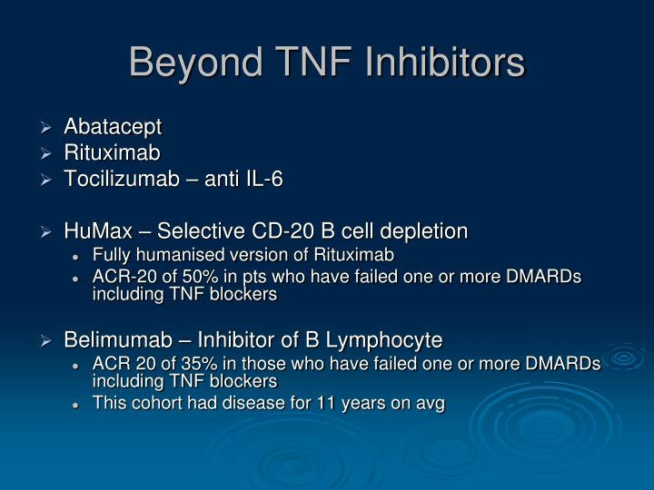 Beyond TNF Inhibitors