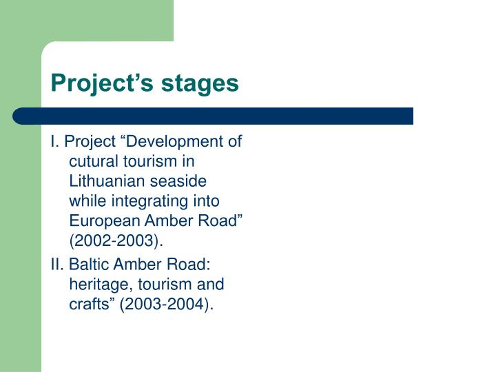 Project's stages