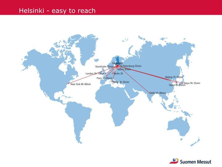 Helsinki - easy to reach
