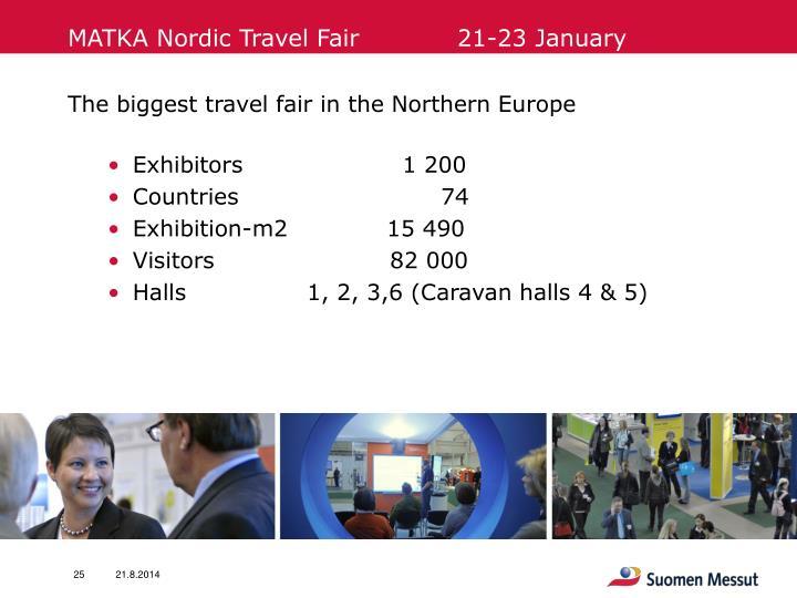 MATKA Nordic Travel Fair            21-23 January