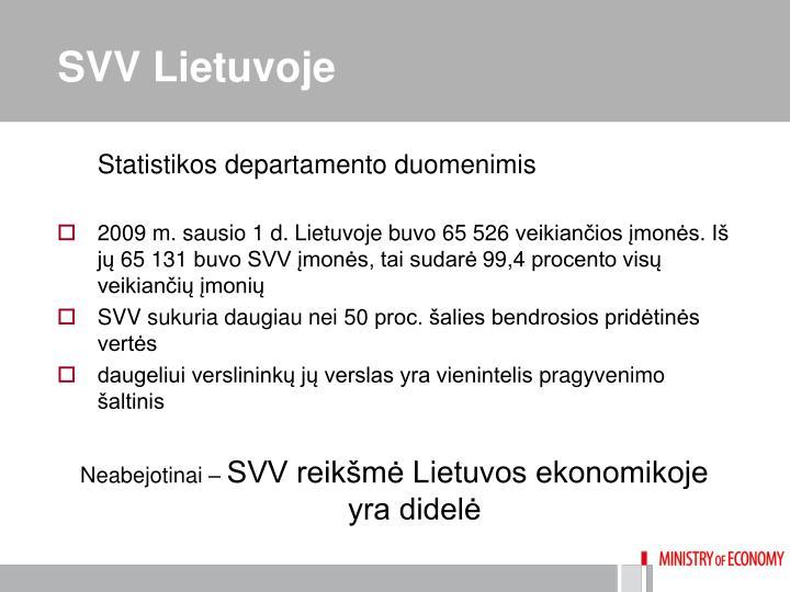 SVV Lietuvoje