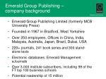 emerald group publishing company background