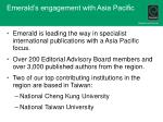 emerald s engagement with asia pacific