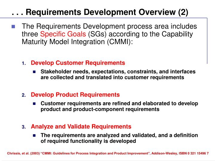 . . . Requirements Development Overview (2)