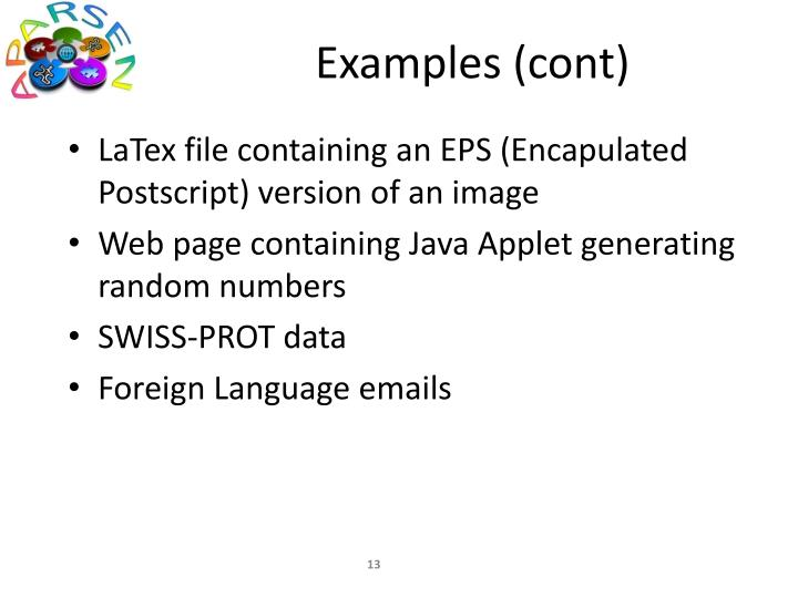 Examples (cont)