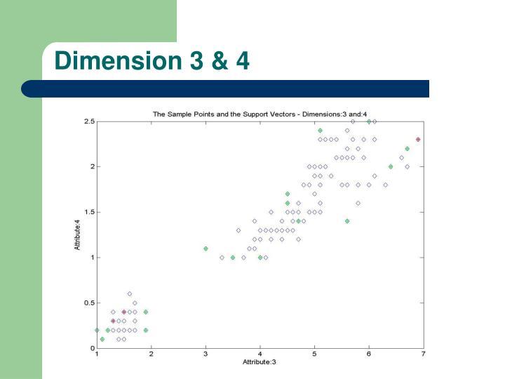 Dimension 3 & 4