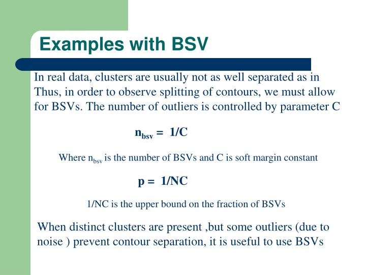 Examples with BSV