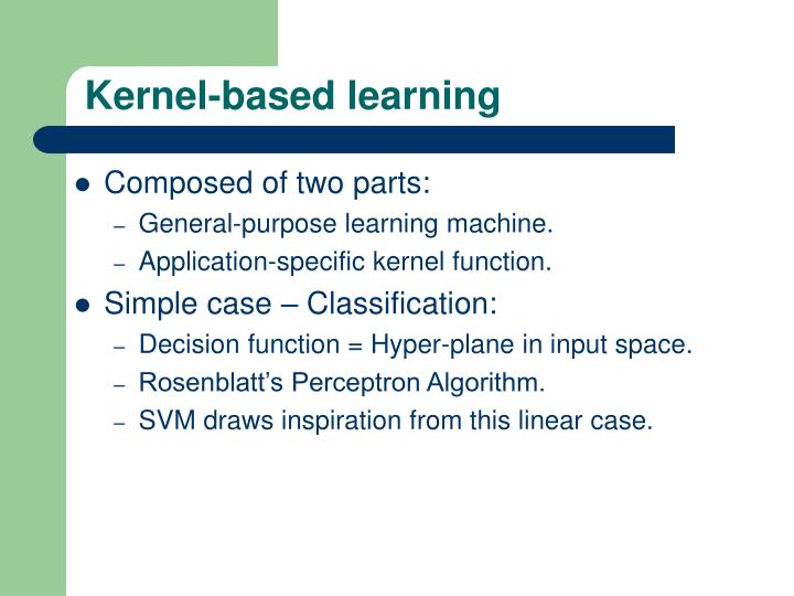 Kernel-based learning
