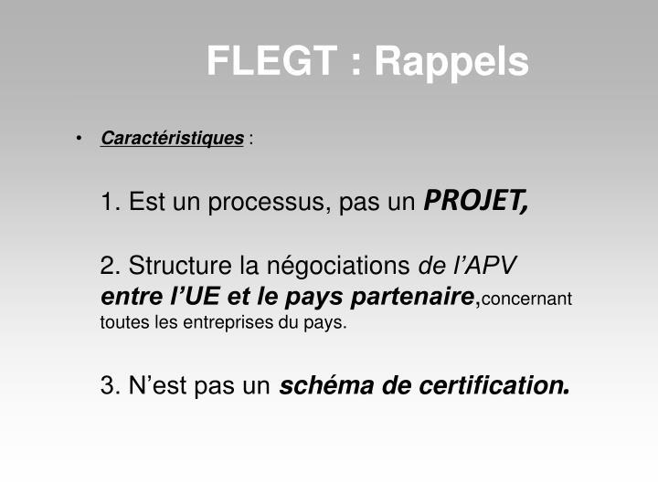 FLEGT : Rappels