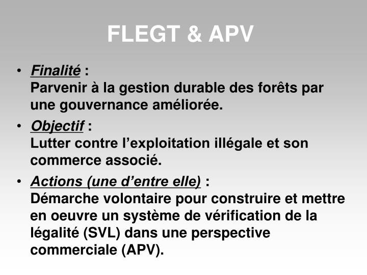 FLEGT & APV
