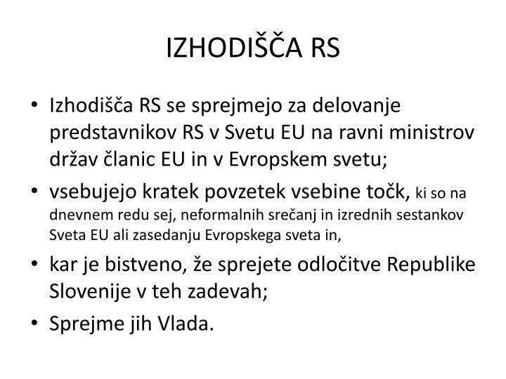 IZHODIŠČA RS