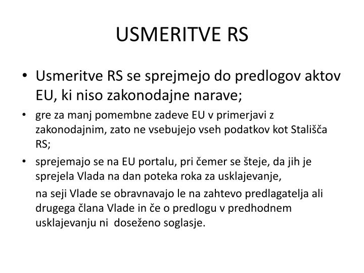 USMERITVE RS