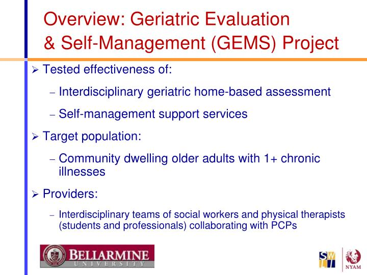 Overview: Geriatric Evaluation